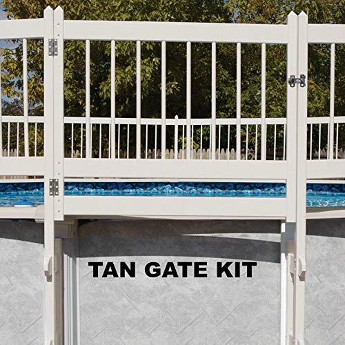 Doheny's Protect-A-Pool Fence for Above Ground Pools | Provides A New Level of Security to Above Ground Pool Safety! | Fits Most Pools - Regardless of Shape (Gate Kit, Tan)