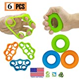 Hand Grip Strengthener, Finger Exerciser, Grip Strength Trainer (6 PCS)*New Material*Forearm Grip...