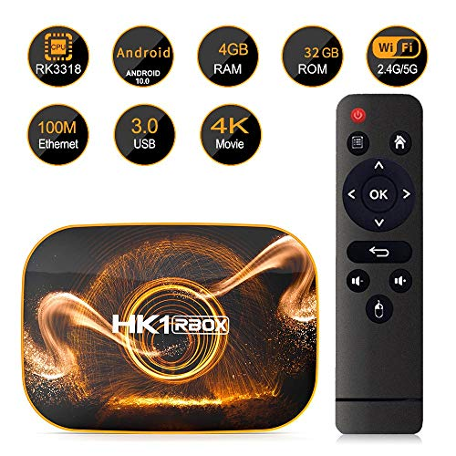 Monland Smart TV Box Android 10.0 4GB 32GB ROM TV Box 4K Media Player USB3.0 Set Top Box para Netflix Youtube Enchufe de la UE miniatura