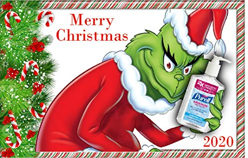 COVID Christmas Card, Grinch, Merry Christmas, 2020, Pandemic, Funny, 5 x 7 inches, Blank Inside, Envelope Included