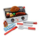 Melissa & Doug Wooden Rotisserie & Grill Barbecue Play Set (24 Pieces, Pretend Play Food Toy, Great Gift for Girls and Boys - Best for 3, 4, 5, and 6 Year Olds)