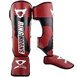 Ringhorns Charger Espinilleras de Boxeo, Unisex Adulto, Rojo, M