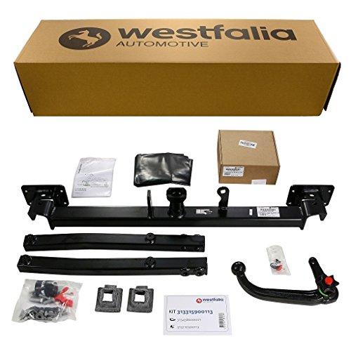 Westfalia Abnehmbare Anhängerkupplung - AHK für Mercedes C-Klasse Kombi / Limousine (S204/W204) (BJ 03/2007 - 07/2009) im Set mit 13-poligem fahrzeugspezifischen Westfalia Elektrosatz