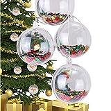 SFITVE Bolas de Navidad Transparente,Bola de Material Plástico,DIY Creativa Rellenable Clear Plastic Baubles Bolas de Bricolaje para Fiestas Decor del Banquete de Boda de Vacaciones(Size:30cm(3pcs))