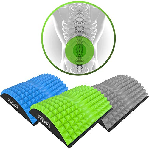 American Lifetime Lower Back Stretcher - Massage for Chronic Lumbar Pain Relief Treatment - Helps with Spinal Stenosis Sciatica Herniated Disc and Neck Muscle Pain - Green