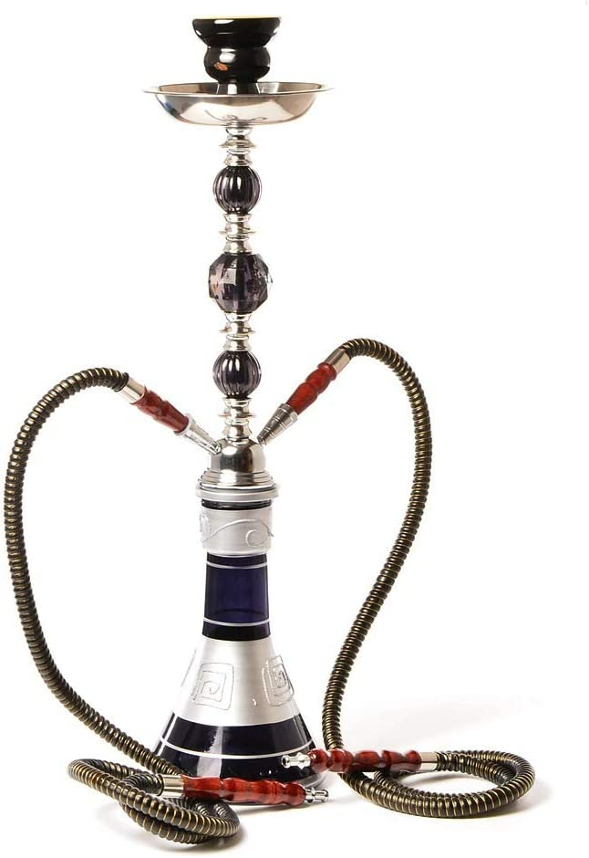 JINFAN Hookah Set Mesa Mall Large Double outlet S Pipe Glass