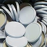 25 Stück X to 89 mm Weiß Schraubdeckel für Gläser • Twist Off Deckel Verschluss Ø 89mm •...