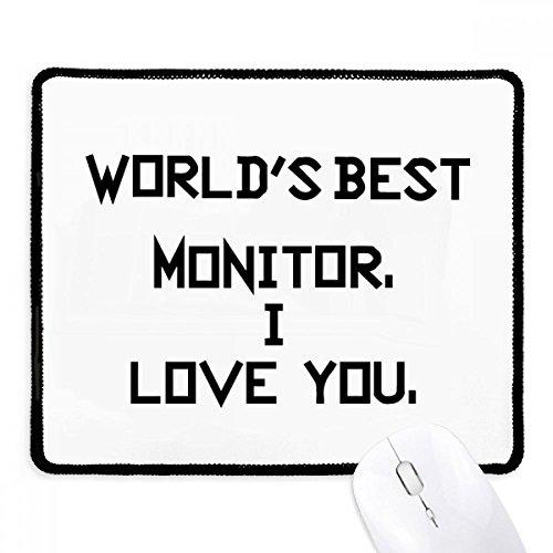 DIYthinker Wereld beste Monitor Ik hou van u Niet-lip Mousepad Game Kantoor Zwart Titched Edges Gift