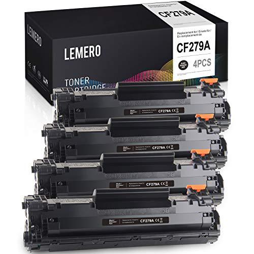 LEMERO Compatible Tóner para HP 79A CF279A para HP Laserjet Pro M12 M12W M12A M26 M26A M26NW Impresora 4Negro