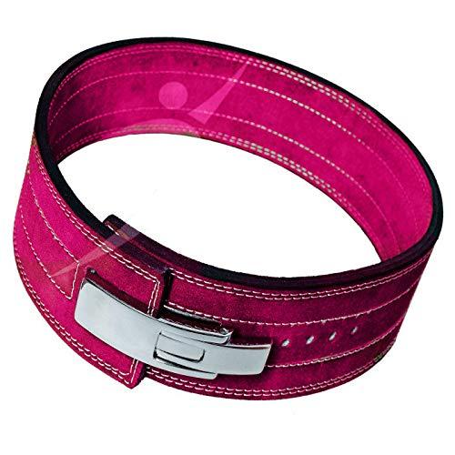 Gewichthebergürtel von AG – 10,2 cm breit & 8 mm dick Leder Gewichthebergürtel mit Hebelschnalle – Gym Lifting, Powerlifting, Workout, Gewichthebergürtel für Männer & Frauen (Pink, XX-Large)