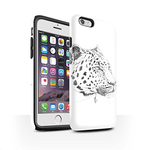 Stuff4 Phone Case/Cover/Skin/IP-3DTBM/Sketch Drawing Collection Apple iPhone 6 Luipaard.