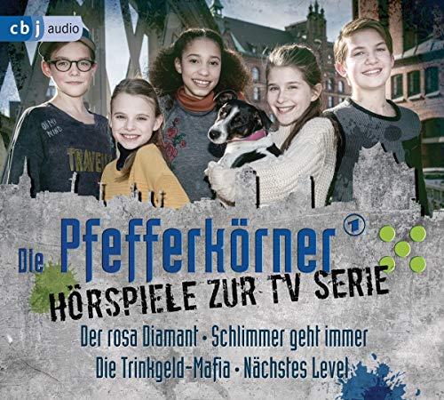 Die Pfefferkörner – Hörspiele zur TV Serie (Staffel 14): Der rosa Diamant - Schlimmer geht immer - Die Trinkgeld-Mafia - Nächstes Level