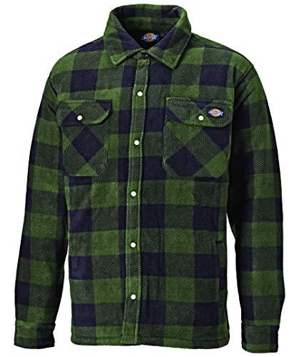Dickies Thermohemd Portland SH5000, gefüttertes Hemd im Holzfällerlook, optimal für Herbst & Winter (Grün, XL)
