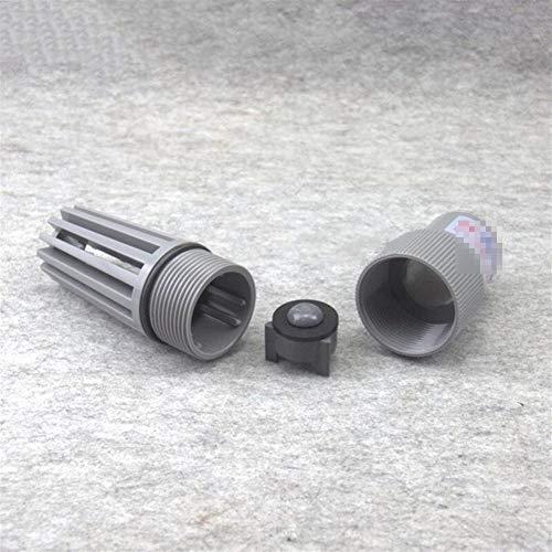 Fuerte y robusto 3pcs Inne Dia 32 mm-63 mm Filtro de agua Filtro de agua Bomba de agua de PVC Entrada Salida válvula de pie con filtro de acuario Accesorios de PVC Manguera de jardín.