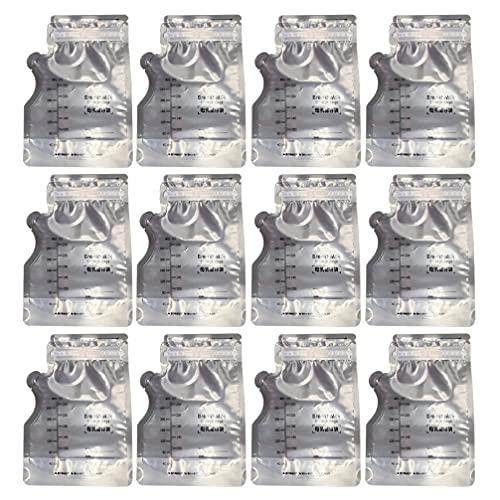 Toddmomy 30Pcs Breastmilk di Stoccaggio del Latte Sacchetti Freezer Latte Guarnizione della Chiusura Lampo del Sacchetto con La Scala per L' Allattamento Seno 250Ml