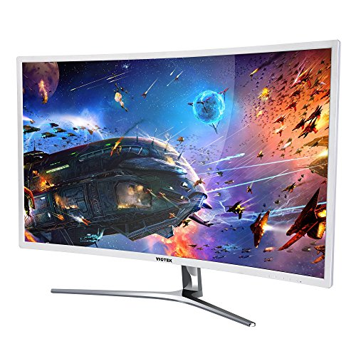 VIOTEK NB32C 32 Inch Curved Computer Monitor Full HD 1920x1080 Large Widescreen Samsung Panel with...