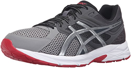 ASICS Herren Gel-Contend 3, Dunkelgrau/Silber/True Red, 37.5 EU