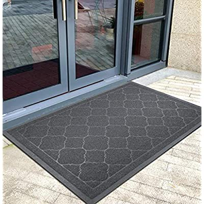 HiiARug Large Door Mats, Outdoor Indoor Entranc...