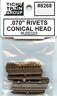 Tichy Train Group All Scale HO/O .070'' Rivets Conical Head 96 Pcs Detail #8268