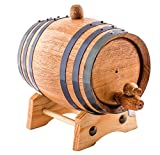 1 Liter American Oak Aging Whiskey Barrel | Handcrafted using American White Oak | Age your own Whiskey, Beer, Wine, Bourbon, Tequila, Hot Sauce & More
