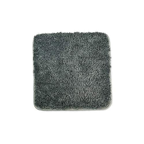WohnDirect Alfombrilla de baño – Alfombra baño – Antideslizante – Alfombra para el Cuarto de baño – Lavable – Alfombrilla para el Inodoro – Gris - 45 x 45 cm