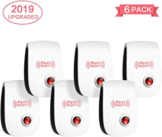 Yokot Ultrasonic Pest Repeller Electronic Repellent Indoor Plug in,Pest Control of Insects Mice,Ant, Mosquito, Spider, Rodent, Roach, Mosquito, Pest Defender for Children and Pets Safe (6 Packs)