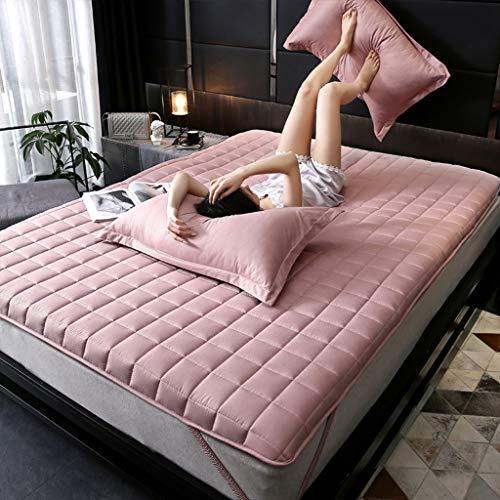 yangdan Colchón grueso y acolchado a prueba de golpes para el hogar, estudiante o dormitorio individual (color: rosa, tamaño: 180 x 200 cm)