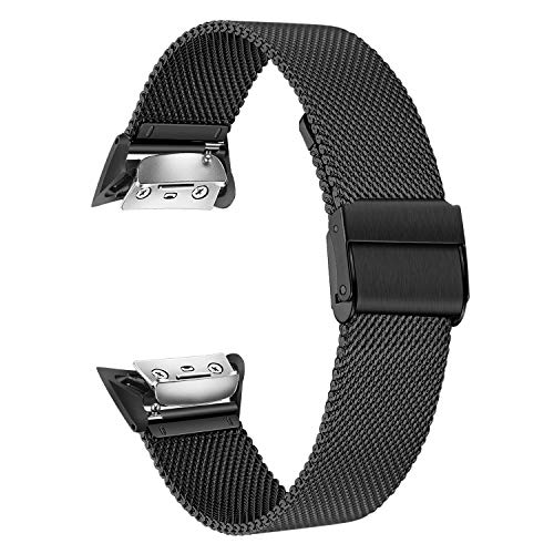 TRUMiRR Gear Fit 2 Armband, Solid Edelstahlband Sport Armband Handgelenk Uhrenarmband Armband für Samsung Gear Fit 2 SM-R360/Fit 2 Pro SM-R365 Smart Watch