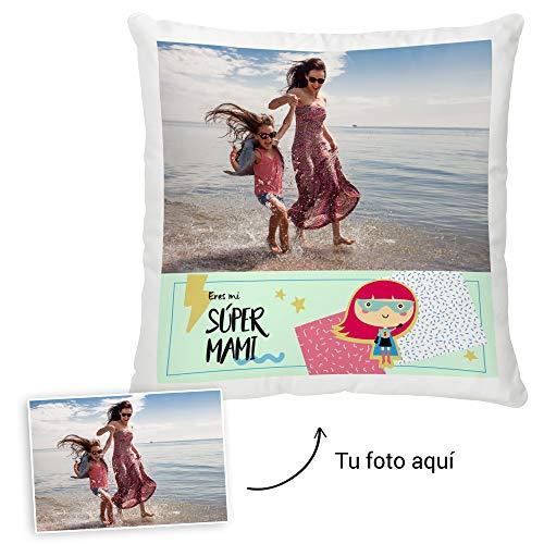 Fotoprix Cojín Personalizado con Foto para Mamá | Regalo Original día de la Madre | Varios diseños Disponibles. (Diseño: Madre 5, 45 x 45 cms)