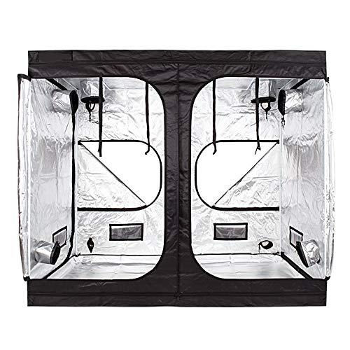 Wzz Growzelt Nicht Lichtdurchlässig, Sichtfenster Growbox Zuchtschrank Grow Tent Gewächszelt Zelt Homegrow Für Den Anbau Von Zimmerpflanzen, Indoor Hydrokultur Wachsen Zelt, 240X120X200 cm