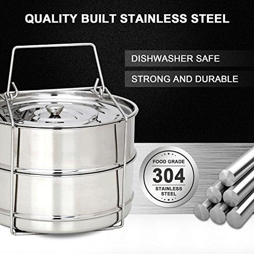 Secite Instant Pot Accessories 6 qt Steamer Basket,Stainless Steel Strainer and Insert Fits Instapot 6qt & 8qt