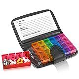 Pilulier Hebdomadaire - Boîte à Médicaments Extra Large avec Compartiments, 4 Fois par Jour, 7 Jours de la Semaine, Taille 7,5...