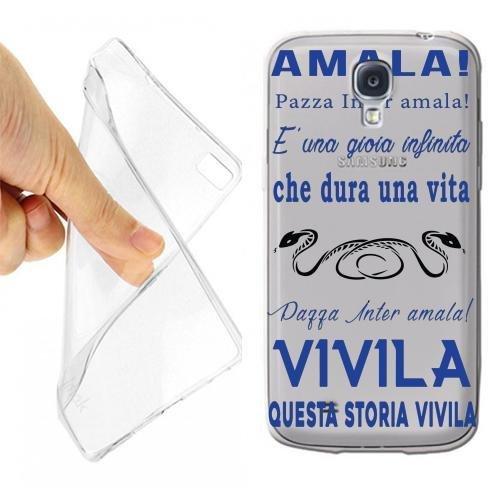 Custodia Cover Case Coro Inter per Samsung Galaxy S4 Mini Trasparente