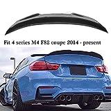Spoiler posteriori per auto in fibra di carbonio, spoiler sul labbro del bagagliaio del bagagliaio posteriore, per labbro del bagagliaio del baule del coupé a 2 porte BMW Serie 4 M4 F82 2014-2019
