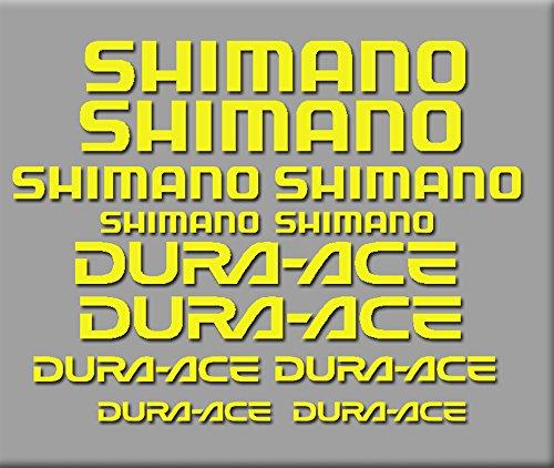 Ecoshirt AJ-XMIE-SJZ8 Aufkleber Shimano Dura-Ace R227 Stickers Aufkleber Decals Autocollants Adesivi, Gelb
