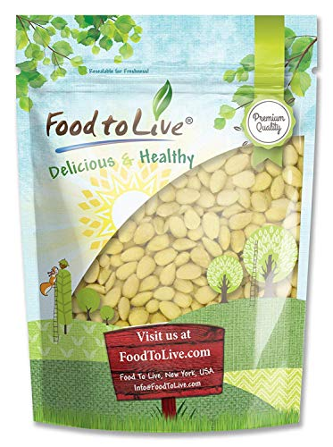 Blanched Almonds, 8 Ounces  Whole, Kosher, Raw, Vegan