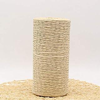 AILIFE 500G/Lote de hilo de paja de rafia de ganchillo para tejer el verano sombrero de paja bolsos cojines cestas material de tejer a mano hilo