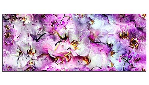 XXL Glas print/foto AG312502127 Orchidee bloem tapijt 49,2 x 19,7 inch (125 x 50 cm) Deco Glas, Ontwerp & Handgemaakt