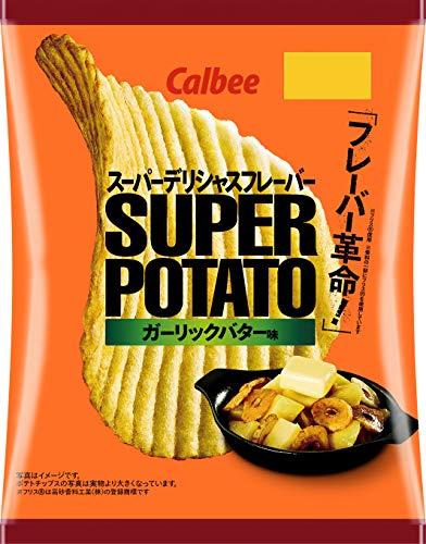 カルビー スーパーポテト ガーリックバター味 56g ×12袋