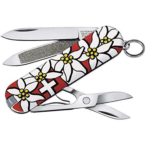 Victorinox Classic Taschenmesser, 7 Funktionen, Schere, Nagelfeile mit Nagelreiniger, edelweiss B1