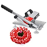 Manual Frozen Meat Slicer, Meat Cutter Machine, Beef Bacon Mutton Roll Meat Slicer Machine for Hot Pot Shabu