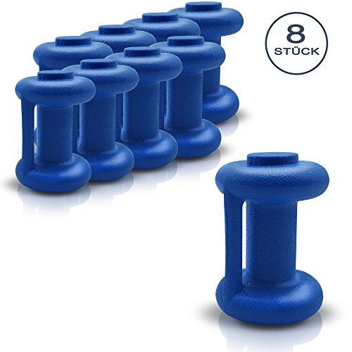 GADEPO Trampolin Endkappen Set 8 Stück Abschlusskappen Kappen Sicherheitsnetz Ersatzteil Durchmesser 25 mm Blau Besonders Robust Wetterbeständig