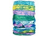 Alsino Multifunktionstuch Schlauchtuch Halstuch Multischal Multiscarf alle Farben, Variante wählen:MF-161 Muster gelb rosa