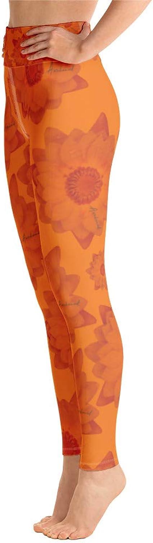 Ananda Shanti Apparel Awakened Lotus  Sacral Chakra  FourWay Stretch High Waist Yoga Leggings with Pocket  EcoFriendly