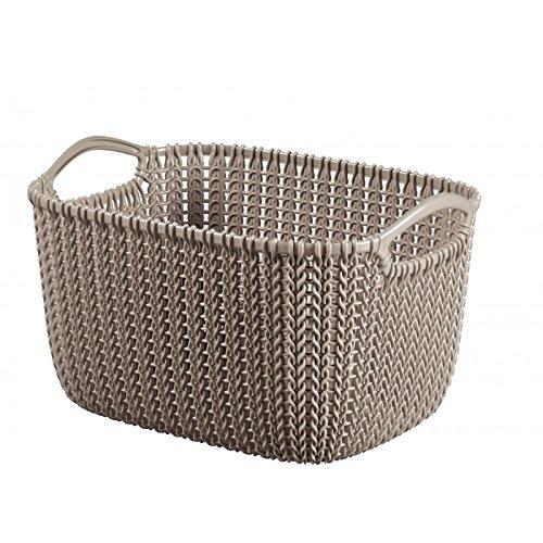 CURVER 226167-Cesta de almacenaje, plástico, Rectangular, Punto 29 x 21,7 x 8 cm, 17,2 L