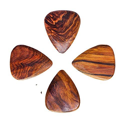 Timber Tones-Plettro per chitarra, Birmania legno di padouk, confezione da 4 pezzi