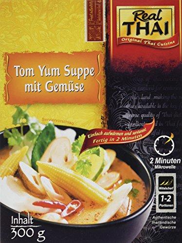 Real Thai Tom Yum Suppe mit Gemüse, 3er Pack (3 x 300 g)