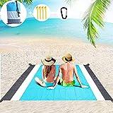 Beach Mat Picnic Blanket Outdoor, Large 210 x 200cm Waterproof Sandproof Picnic Beach