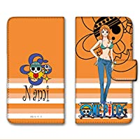 ONEPIECE ワンピース iPhoneX ケース 手帳型 UVプリント手帳 ナミ (op-005) スマホケース アイフォンテン 手帳 カバー スマホカバー WN-LC1067482_MX