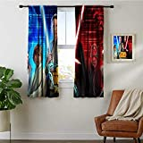 Pattern Curtains Blackout 55x63 inch Star Wars Pinball s9 Thermal Insulated Soundproof Curtain